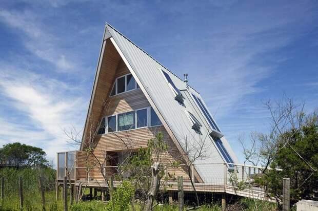 Дом шалаш или А-образный дом: особенности