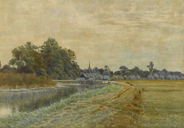 Сельский пейзаж (Country landscape). 1895 (656x458, 337Kb)