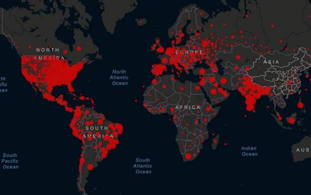 Распространение COVID-19 в мире