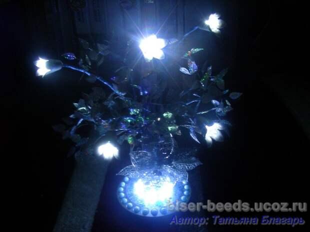 Светодиодное дерево из бисера Мастер класс