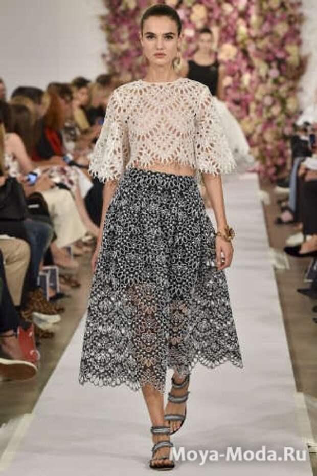 Модные юбки весна-лето 2015 Oscar de la Renta