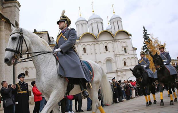 В Кремле прошёл последний в этом году развод караулов
