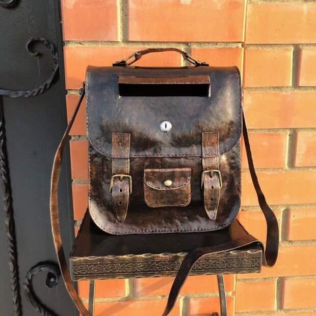 Сумка или почтовый ящик? Сразу всё! postmail, красивые почтовые ящики, отличная идея, почта, почтовые ящики, почтовый ящик, ящики