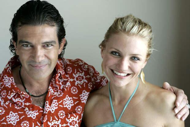 Камерон Диаз (Cameron Diaz) и Антонио Бандерас (Antonio Banderas) в фотосессии для фильма «Шрек 2» (Shrek 2) (2005), фото 5
