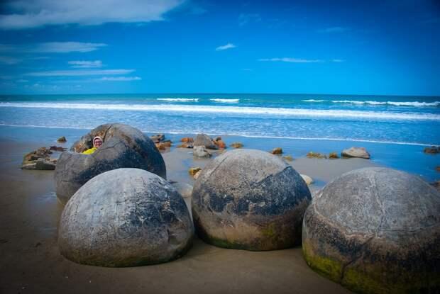 2. Новая Зеландия. Валуны Моераки. (Chilly Chill) земля, природа