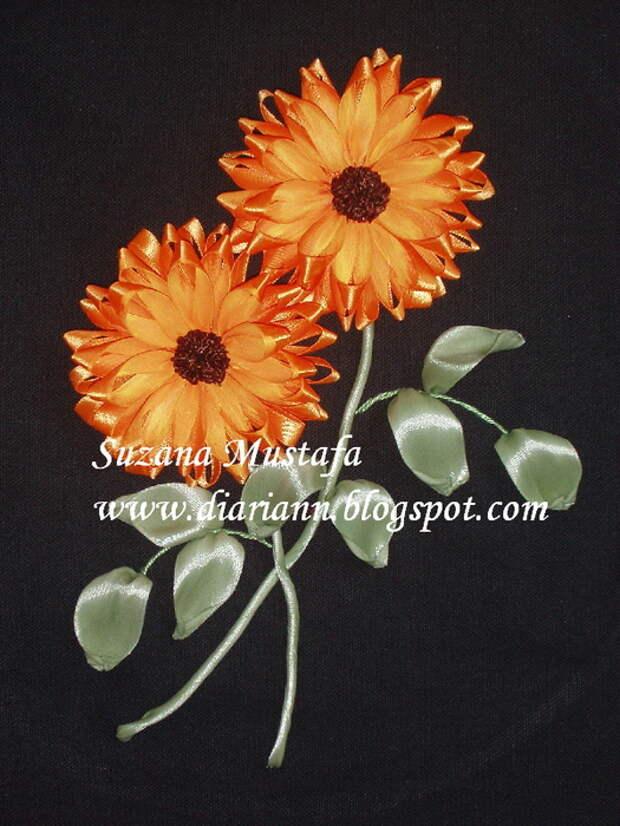 вышивка летнами. хризантемы (13) (525x700, 240Kb)