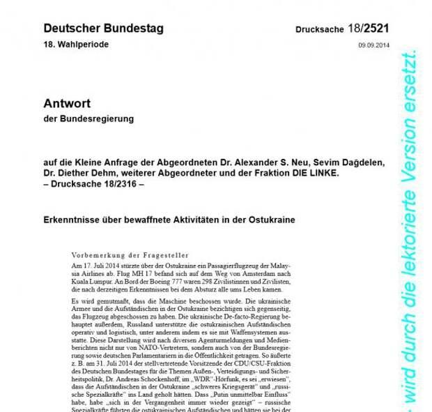 """Германия обнародовала свои данные о гибели малайзийского """"Боинга"""" германия, боинг, данные, украина, пво, сенсация"""