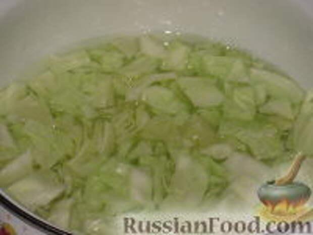 Фото приготовления рецепта: Восточный салат из капусты - шаг №5