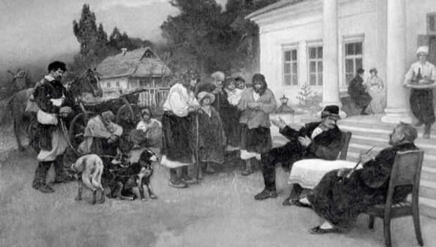 И.С.Ижакевич. Крепостных крестьян меняют на собак