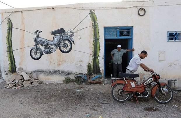 150 уличных художников из 30 стран, превратили старую деревушку Эр-Рияд в Тунисе в настоящую галерею под открытым небом (10)