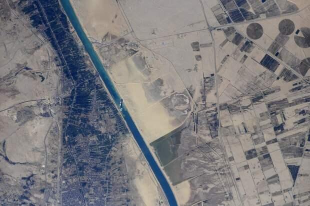 Суэцкий канал. Вид с МКС