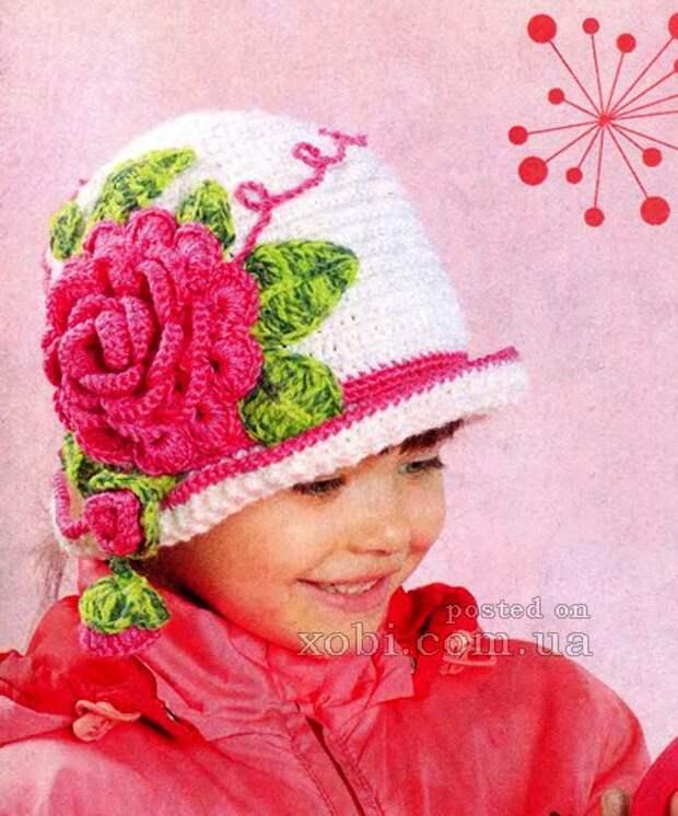 шляпка для девочки «Аленький цветочек»