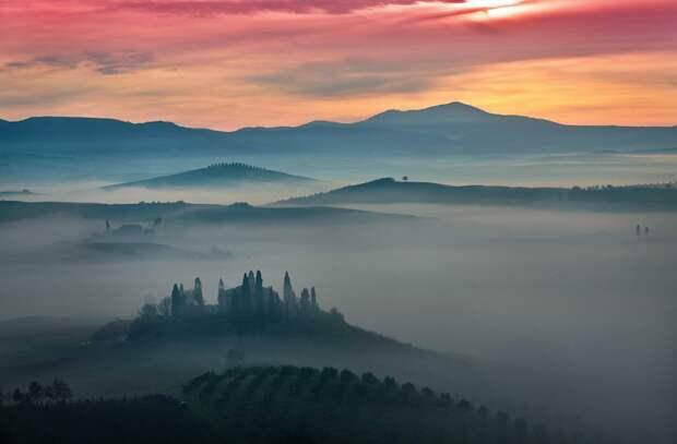 Величие сельской местности Тосканы