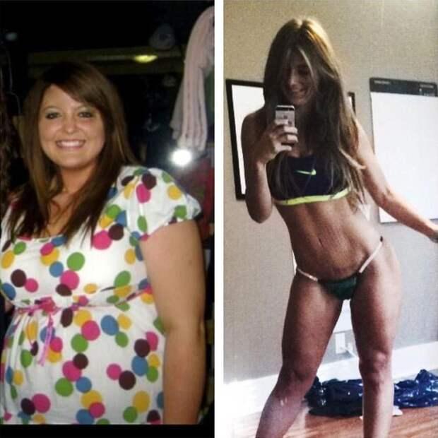 девушка похудела в половину веса, похудела на 60 кг, Коннер Ренш, Conner Rensch