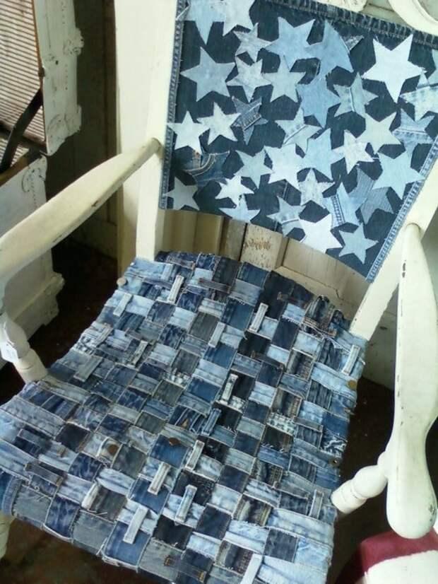 Плетеная сидушка на стул