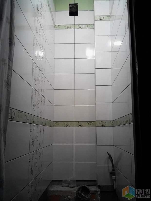 Ремонт туалета фото, монтаж настенной плитки