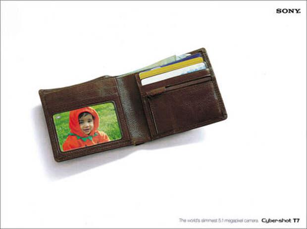 Sony: фотокамера-бумажник