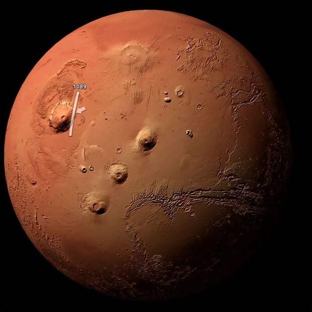 Олимп: самый высокий вулкан Солнечной системы