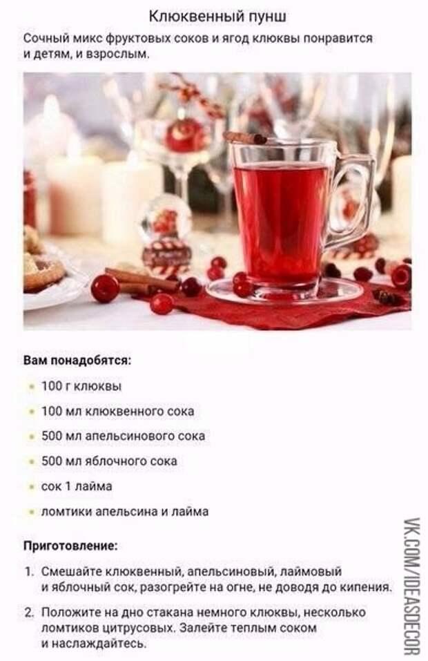 Безалкогольные согревающие напитки
