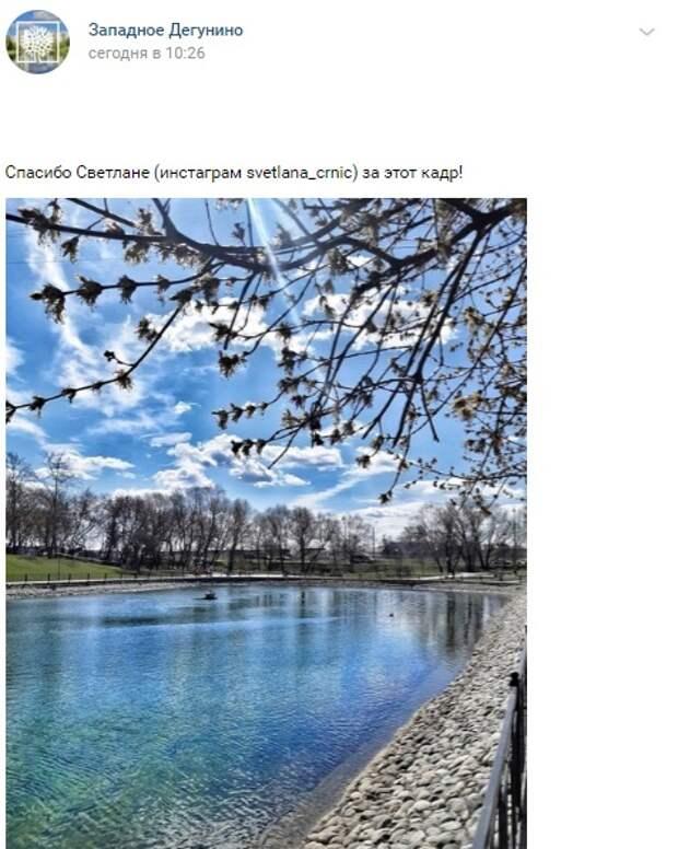 Фото дня: в Дегунине соскучились по весне