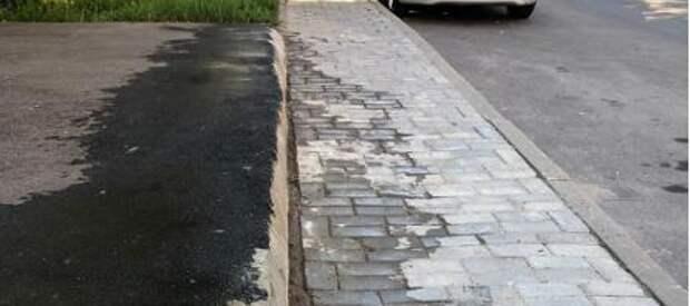 Тротуар на Новокуркинском шоссе отремонтировали после травмы ребенка