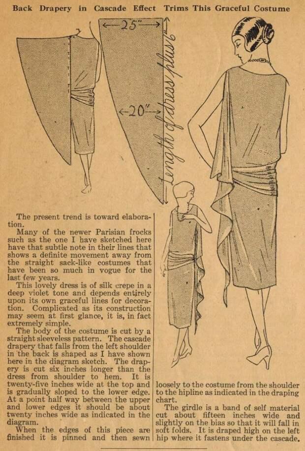 Антикварные выкройки красивых платьев