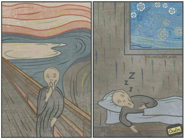 Иллюстрации московского художника, полные сарказма и иронии