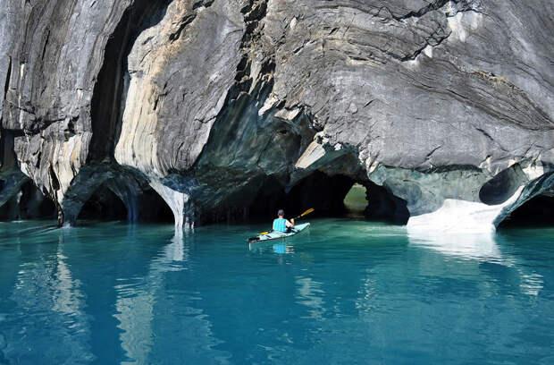 Мраморные пещеры Патагонии