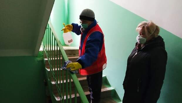 Замечаний по дезинфекции подъездов в поселке Дубровицы не выявили