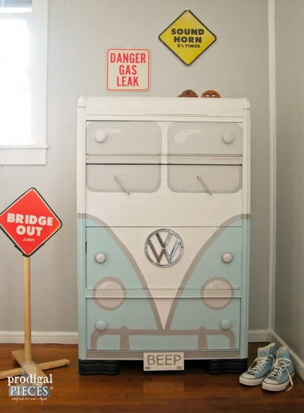 Комод-автобус (Diy)