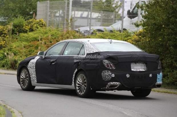 2017 Hyundai Equus поймали на тестах в Европе