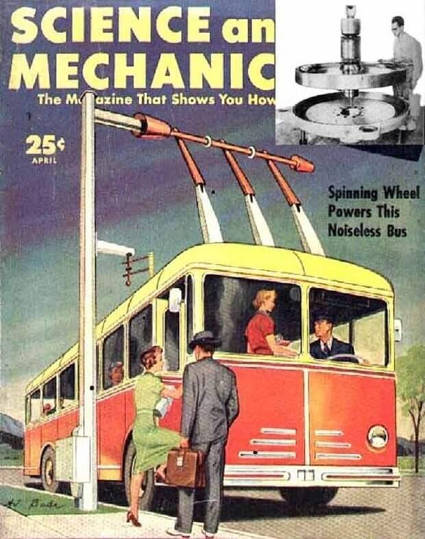 История гиробусов, использующих 1,5-тонные маховики вместо аккумуляторных батарей Гиробус, интересное, транспорт