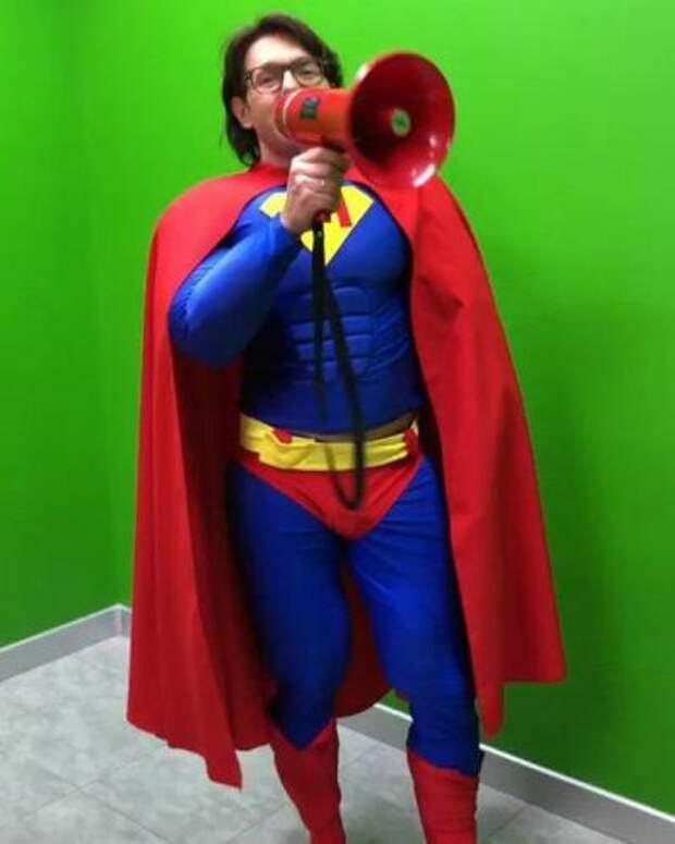Андрей Малахов перевоплотился в Супермена