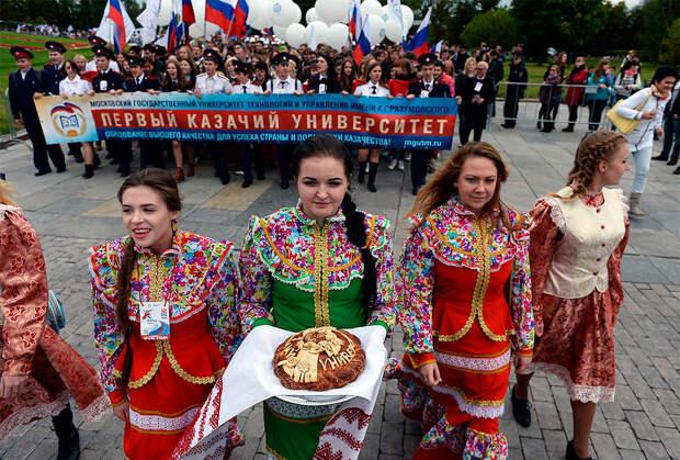 Парад студентов в Москве