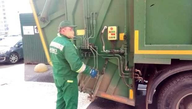 Регоператор начал мыть контейнеры в Подольске водными растворами антисептика