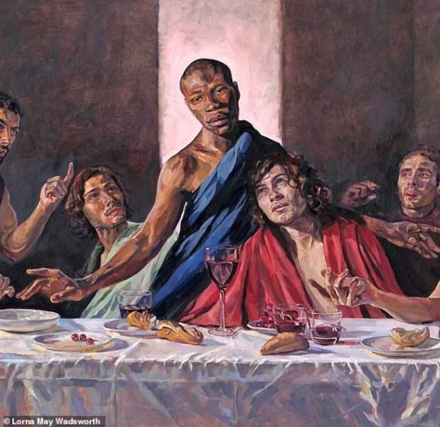 """В старинном британском соборе появилась """"Тайная вечеря"""" с чернокожим Христом"""