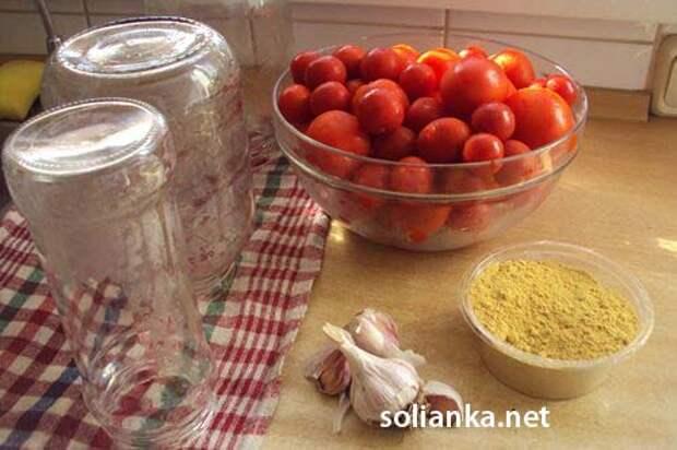Маринованные помидоры с чесноком на зиму «под снегом» (очень простой рецепт и без стерилизации)