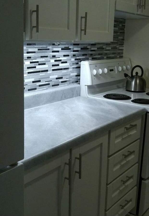 Дешевый ремонт в съемной кухне 2 (Diy)