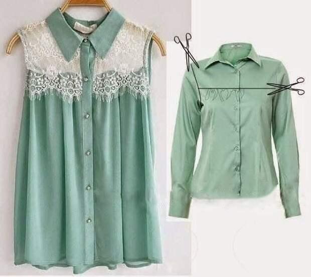 Идея переделки блузки