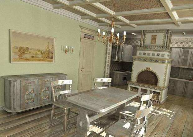 Кухня с русской печью. Фото с сайта storika.ucoz.ru