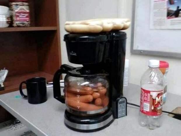 Когда хот-дог на обед обед, прикол, работа, хитрости
