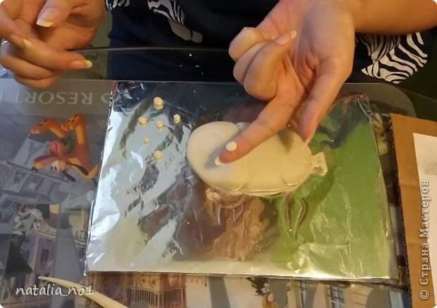 Мастер-класс Поделка изделие Лепка Кот на колбасе - Мастер класс Тесто соленое фото 16