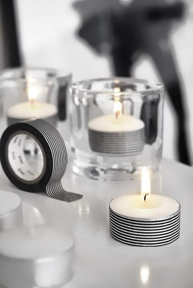 Декор чайных свечей