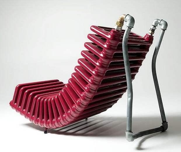 Радиатор в роли кресла