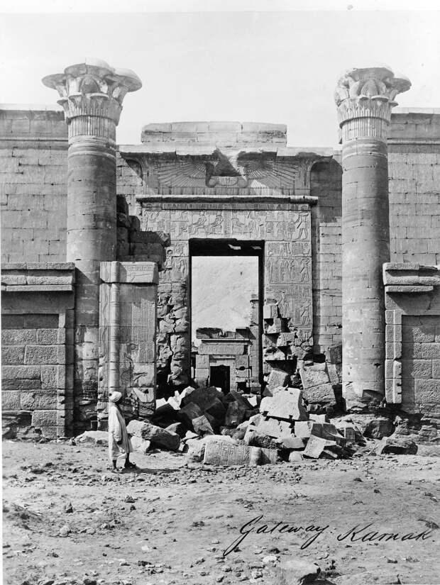 Карнак. Вход.1860-1870-е