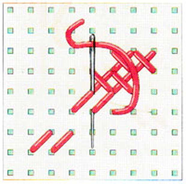 Вышивка крестиком по диагонали. Двойная диагональ слева направо (фото 13)