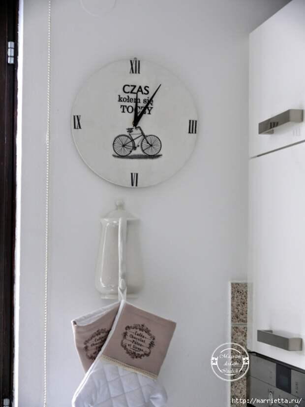 Часы для кухни своими руками (14) (525x700, 180Kb)