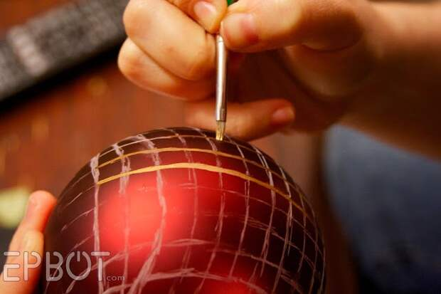 Ёлочные игрушки - воздушные шары (2Diy)