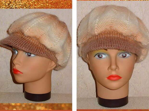 Пуловер и шапка с козырьком