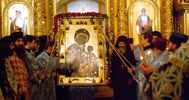 Икона Иверской Божьей матери в Иверской часовне